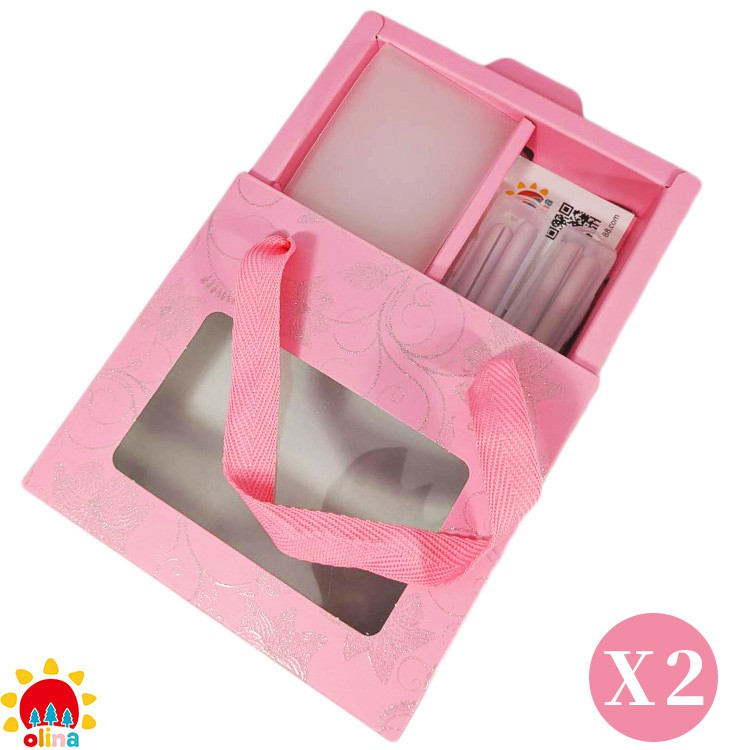 MOM'S olina SOFF 口罩減壓護套-乾燥玫瑰+收納夾-寵愛媽咪禮盒-2盒組