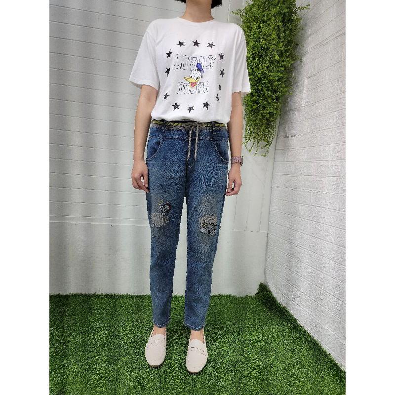 正韓korea韓國製Yanu膝史努比彈性牛仔褲 現貨S小齊韓衣