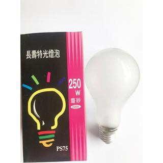 附發票 元山五金 220V 250W鎢絲燈泡 特殊電球 長壽命 單顆賣 臺北市