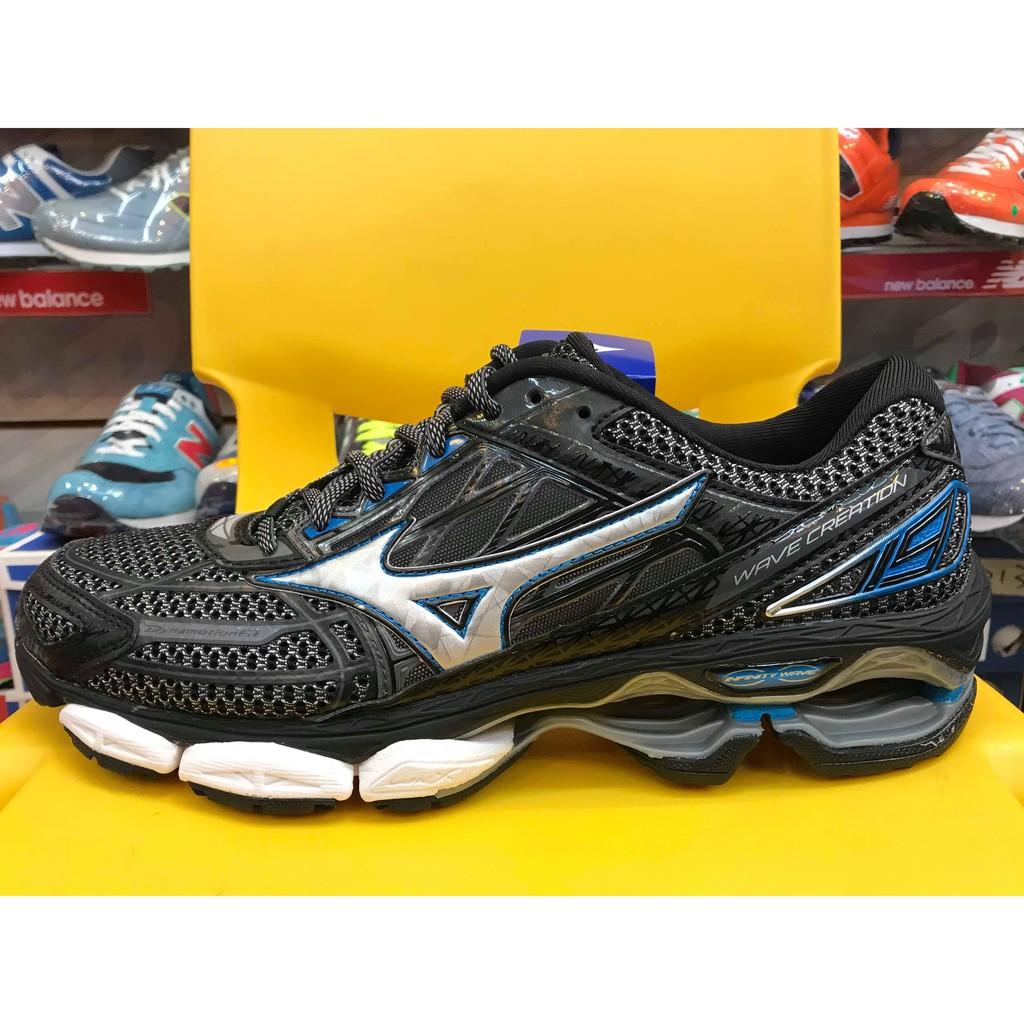 美津濃 Mizuno WAVE CREATION 19 男慢跑鞋 J1GC170105 黑灰 避震 透氣 路跑 訓練