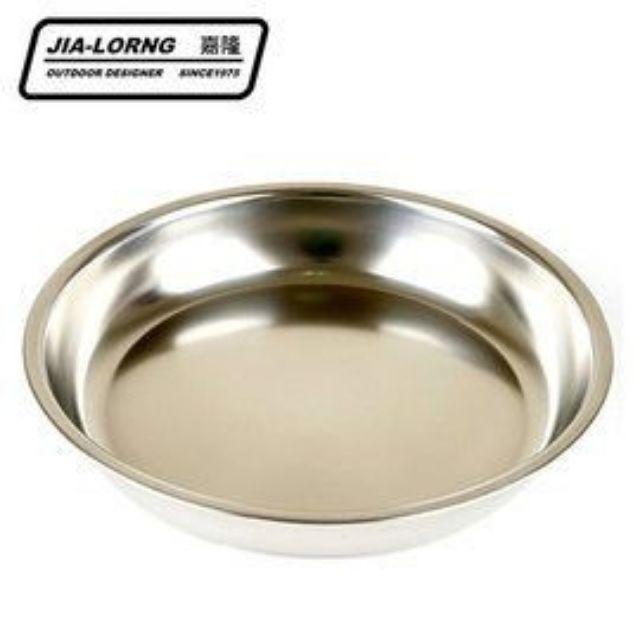【嘉隆】304不鏽鋼圓盤 戶外露營不鏽鋼餐碗盤8