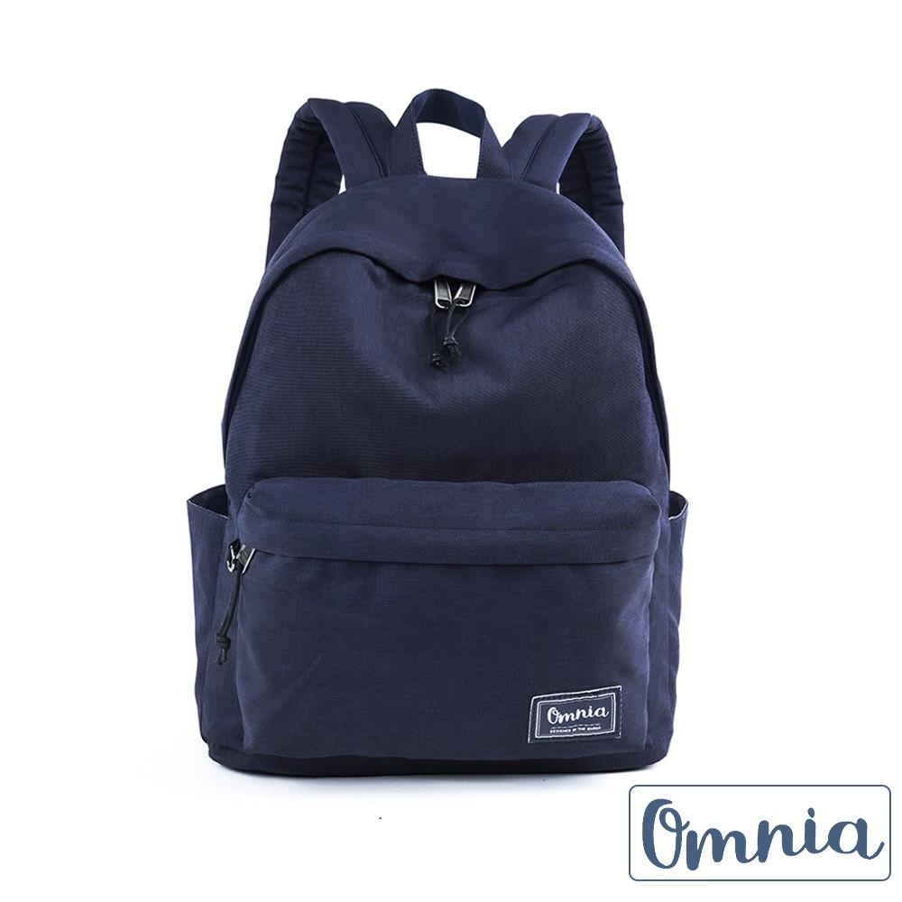 【OMNIA】雅痞硬挺尼龍筆電雙肩後背包(深藍)