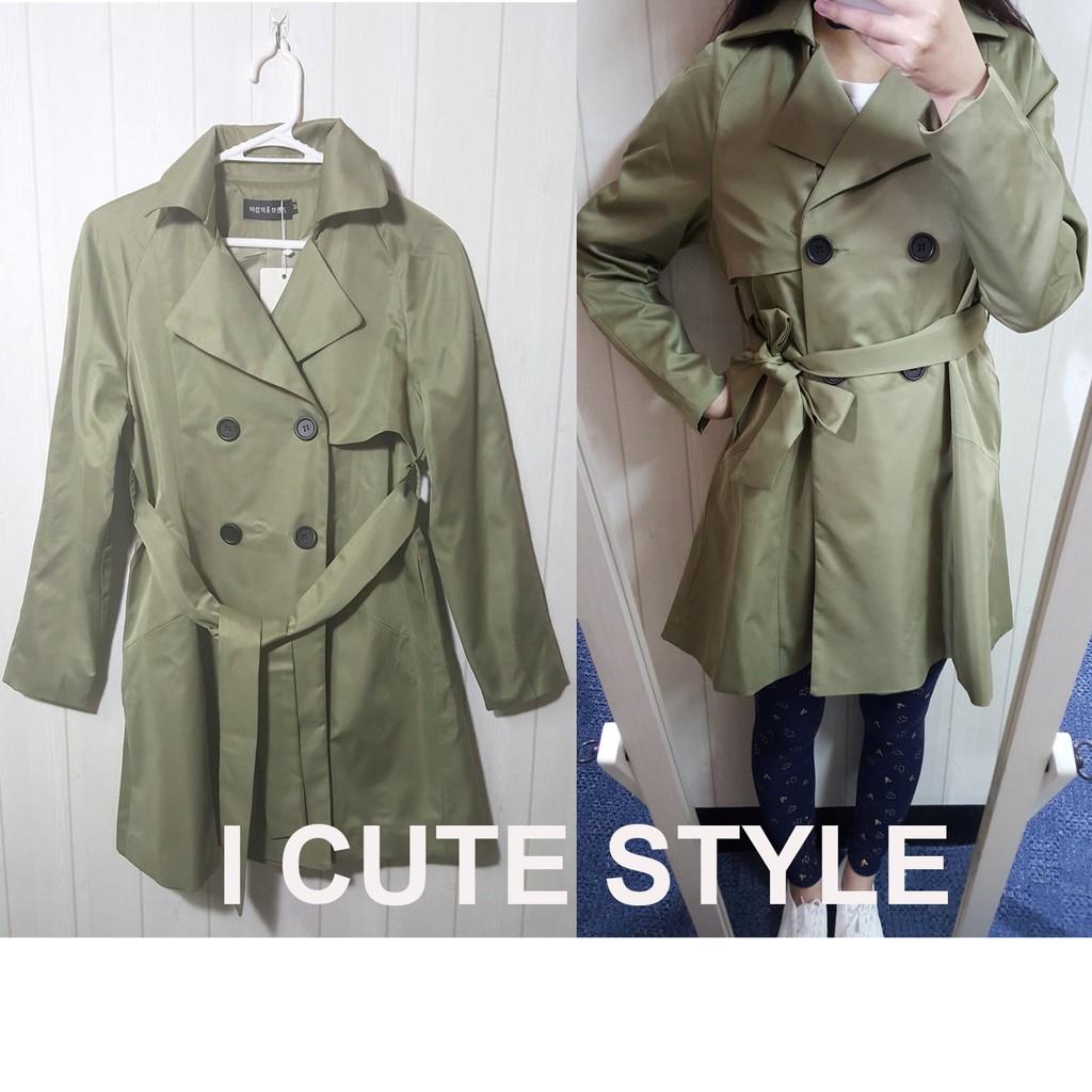 特價↘韓版雙排釦收腰顯瘦風衣外套(現貨)