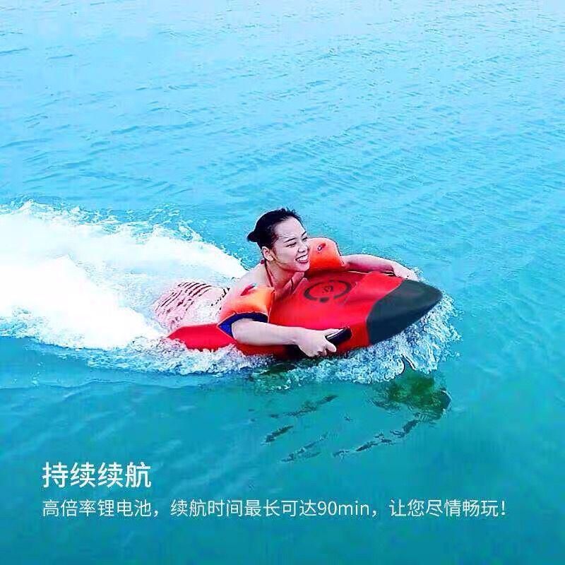 insAEF多功能水上電動力游泳推進器動力救生圈沖浪板運動救生器浮板
