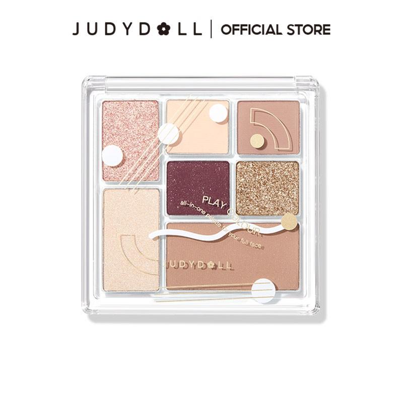 Judydoll橘朵七巧板玩趣眼影盤 彩妝腮紅高光修容 新手啞光珠光旗艦店