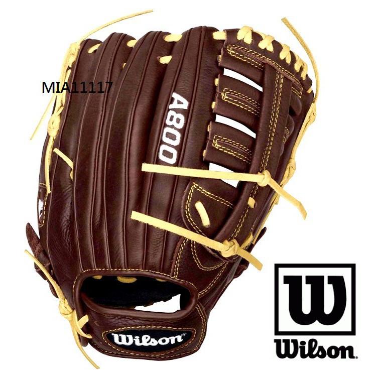 【泰山】WILSON 美國大聯盟  棒球手套 壘球手套 壘手手套 全牛皮手套 經典A800系列 12.5吋 超值CP
