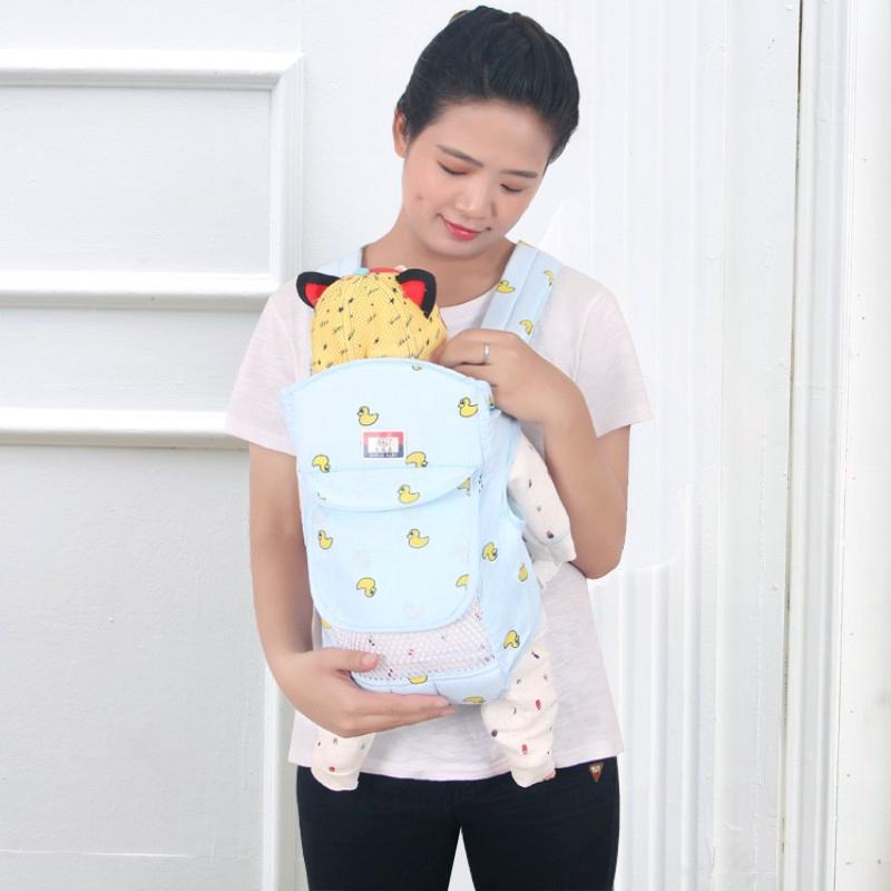 限時免運【現貨】多功能新生嬰兒背帶 前抱式後背式夏季透氣網 初生寶寶橫抱簡易抱帶