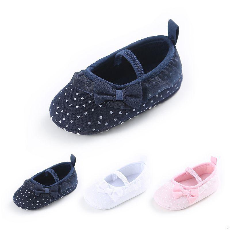 可愛可愛寶寶格蕾絲蝴蝶結防滑軟底公主鞋【IU貝嬰屋】