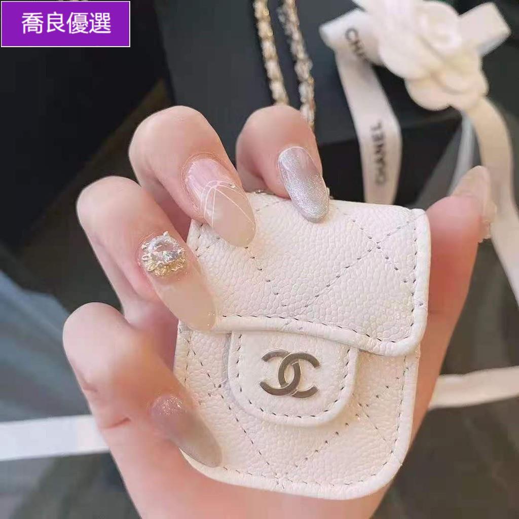 【現貨,熱銷】大牌CHANEL 小香耳機包 Airpods 1 2代 Airpods Pro 荔枝紋