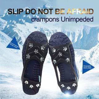 🔥Mybaby (台灣快速出貨) 8齒冰爪防滑鞋套+贈收納袋 出國登山露營釣魚滑雪靴雪地草地