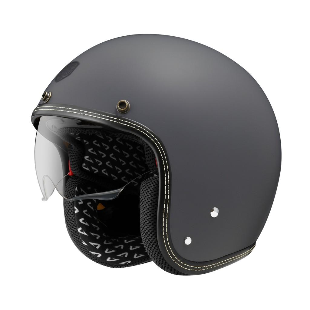 【ASTONE】SP3  素色 (平光灰) 復古帽 安全帽 內襯可拆洗