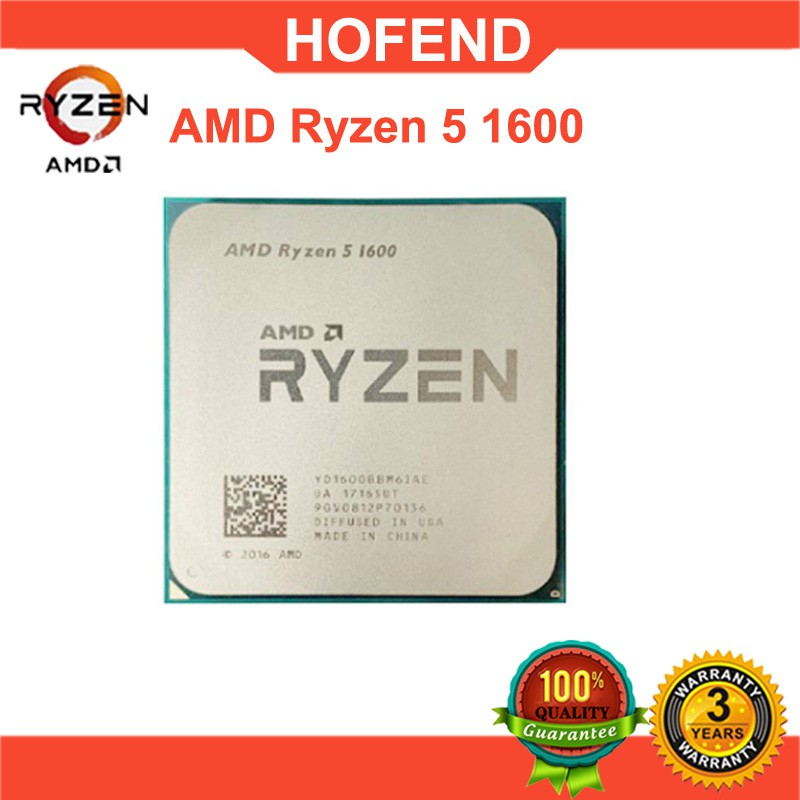 【現貨特惠】AMD Ryzen 5 1600 R5 1600 CPU