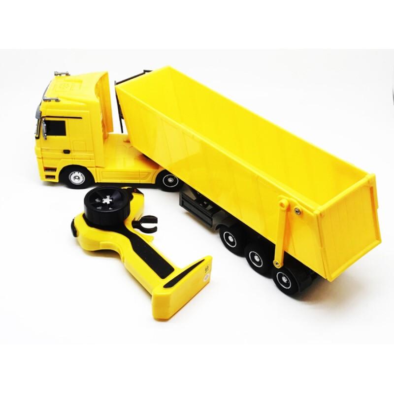 【新款-遙控玩具】遙控拖車頭電動奔馳卡車玩具搖控車充電1:32多功能遙控卡車遙控拖車遙控車尾升降