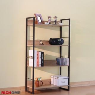 RICHOME   SH480-1   里斯特3D木紋四層架(咖啡鐵管)  四層架  層架   置物架  多肉置物架 臺中市