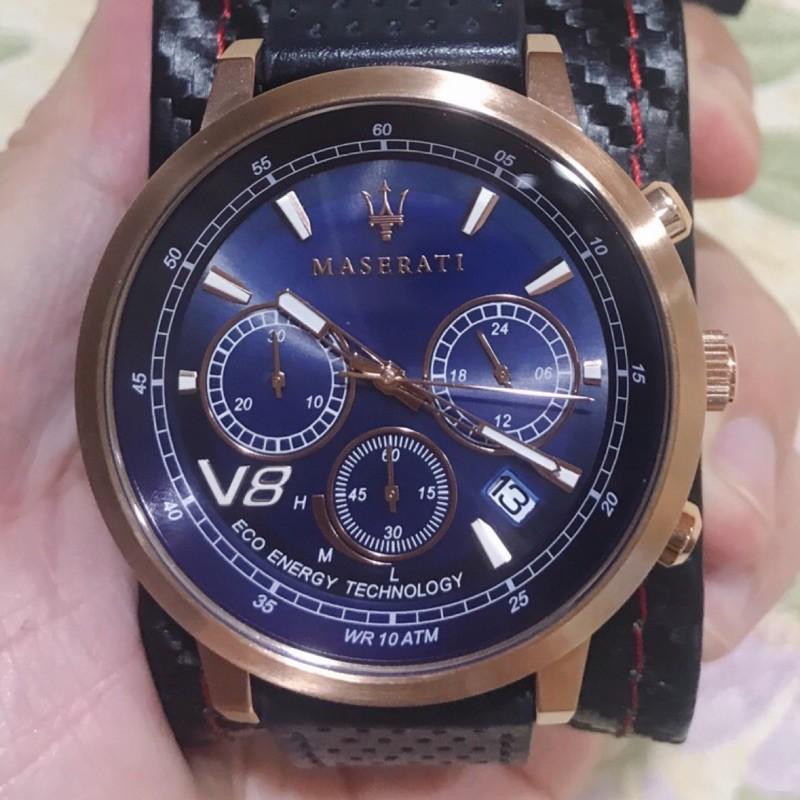 全新MASERATI 瑪莎拉蒂GT光動能計時手錶-Granturismo系列(R8871134003)