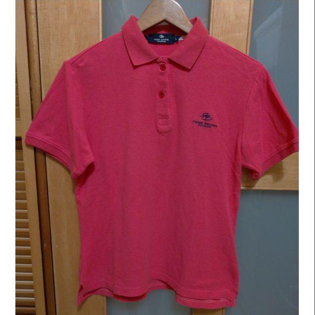 二手 專櫃品牌 PB Pierre Balmain  桃紅色 短袖Polo衫