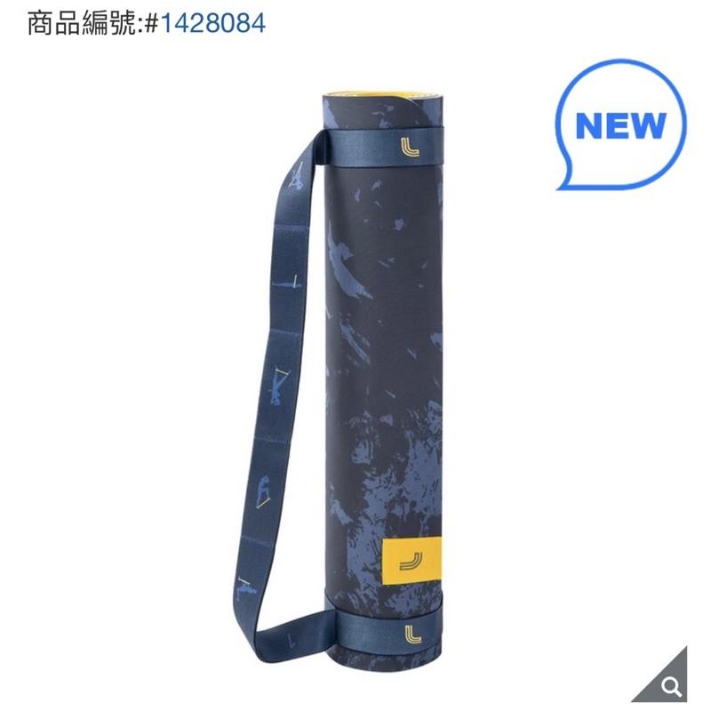 好市多 Lole 5mm 環保TPE雙面瑜珈墊 附彈力帶 迷彩不規則形狀 混色 核心 健身