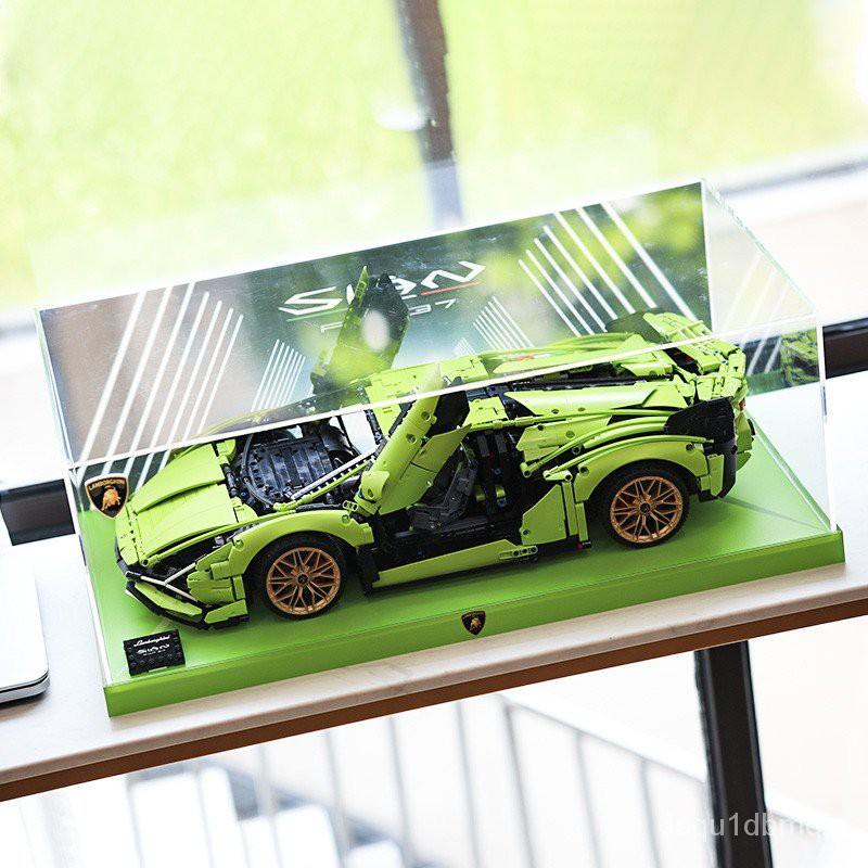 一諾【展示盒】適用樂高科技機械組 42115蘭博基尼跑車 亞克力展示盒 防塵罩