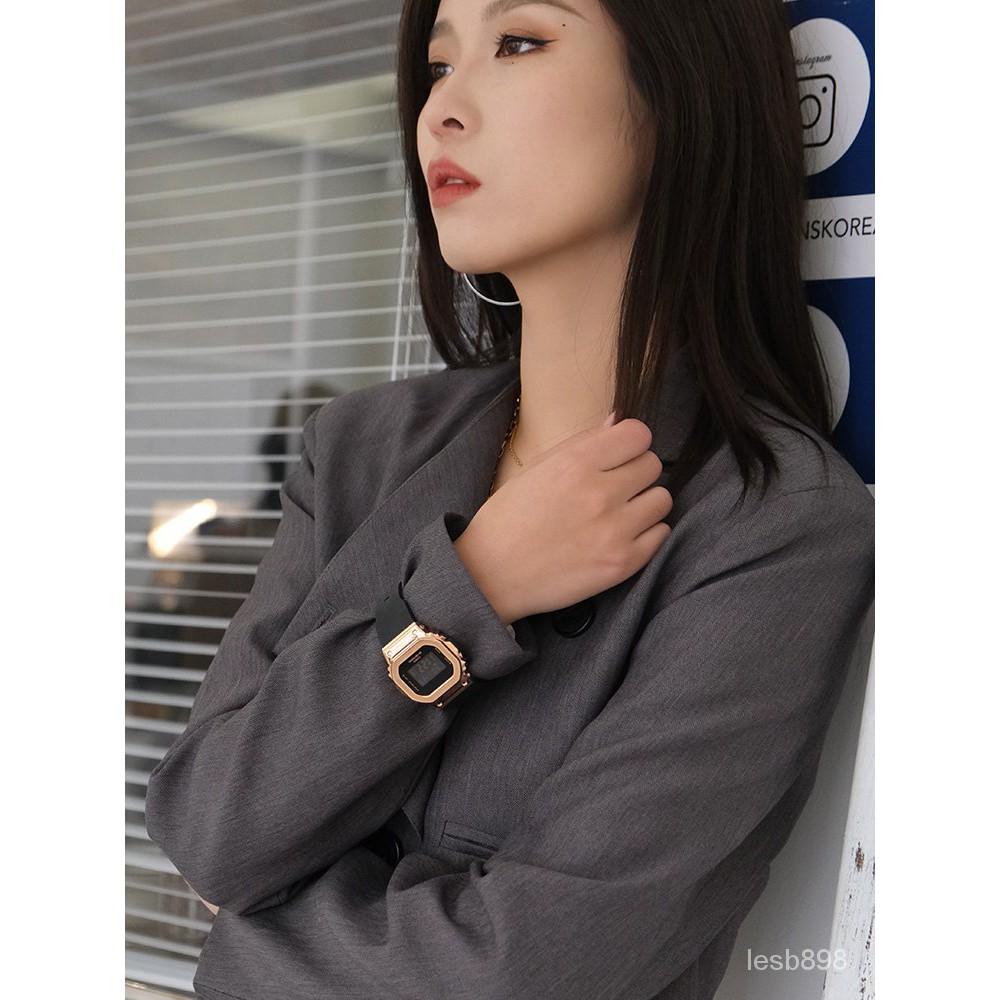卡西歐手錶女官方正品運動街頭潮酷女子金屬gshock電子錶GM-S5600