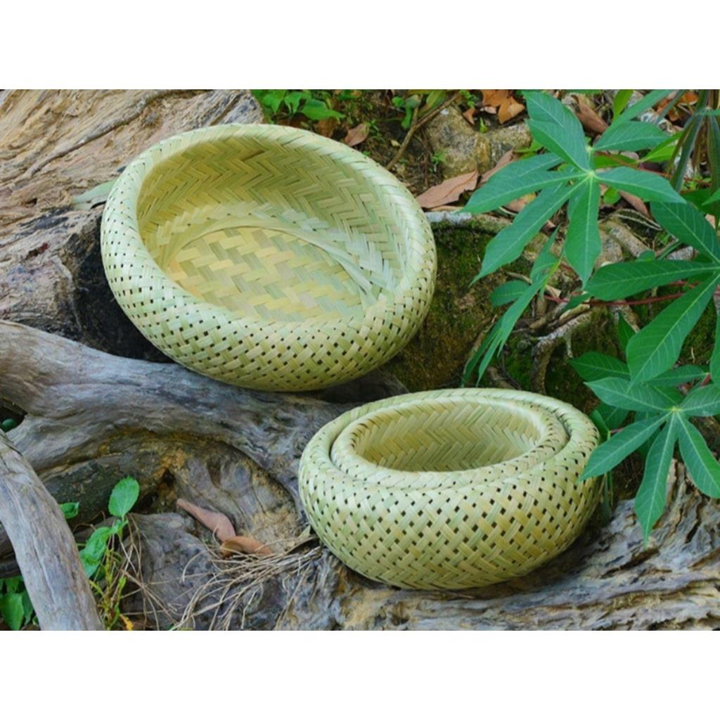 竹編織竹青皮收納零食水果雞蛋籃  圓形鏤空鳥巢竹製擺飾竹工藝品