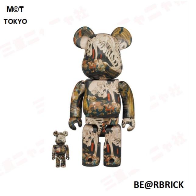 [客戶予約保留賣場] BE@RBRICK 歌川 國芳 相馬の古内裏 圖樣 400%&100% 21.08.10預購截止