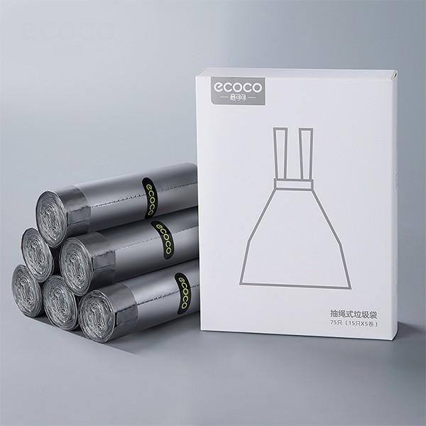ecoco意可可 抽取式盒裝垃圾袋 抽繩款 【OP BOX指尖購物】