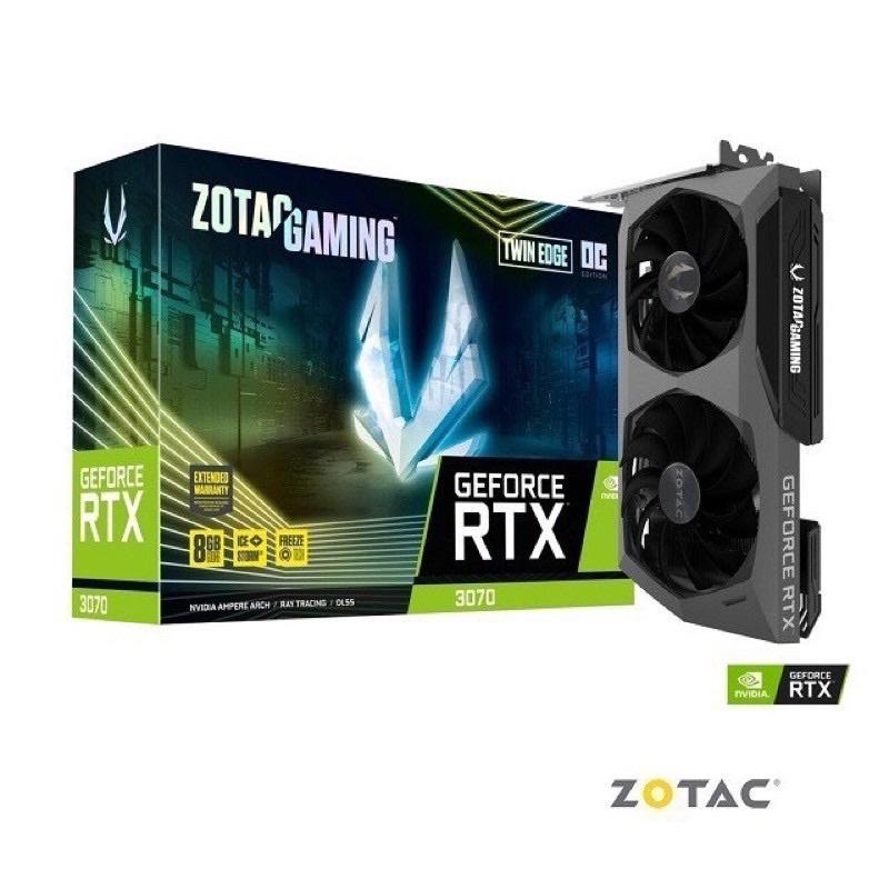《全新未鎖特價一張》ZOTAC索泰 RTX3070 TWIN EDGE OC 8GB 未鎖算力 3070