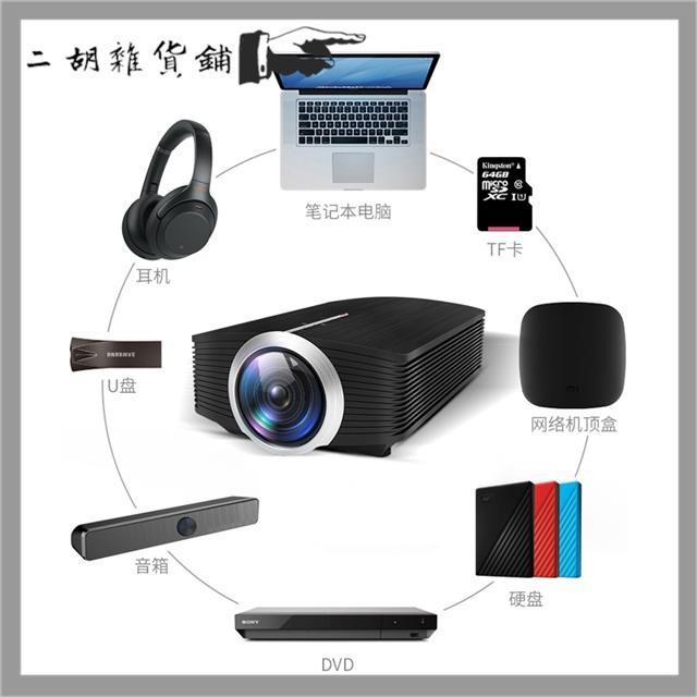 【現貨 免運】行動投影機投影機樂佳達YG500投影機高清手機投影儀微型家庭影院無線wifi1080小型家用宿舍臥室手機墻