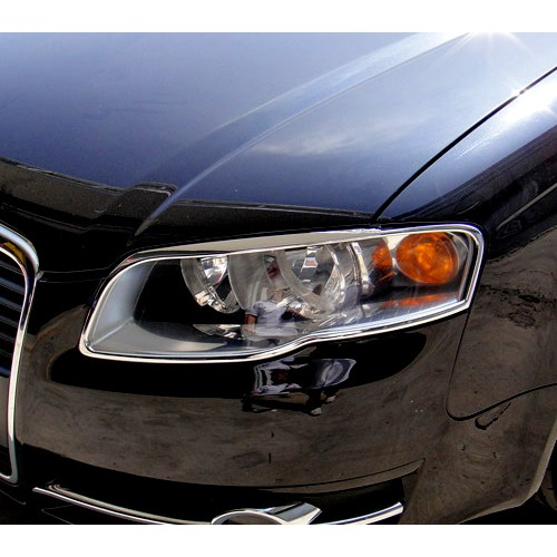 【JR 佳睿精品】2005-2008 AUDI A4 B7 鍍鉻大燈框 前燈框 前燈 飾條 電鍍 改裝 台灣製