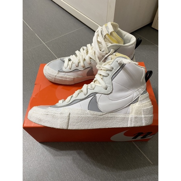 Nike x Sacai Blazer Mid 灰 Us9.5 二手Sacai dunk