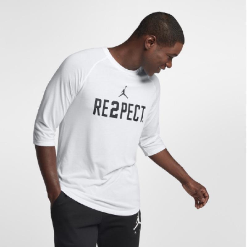 Jordan喬丹re2pect白色七分袖