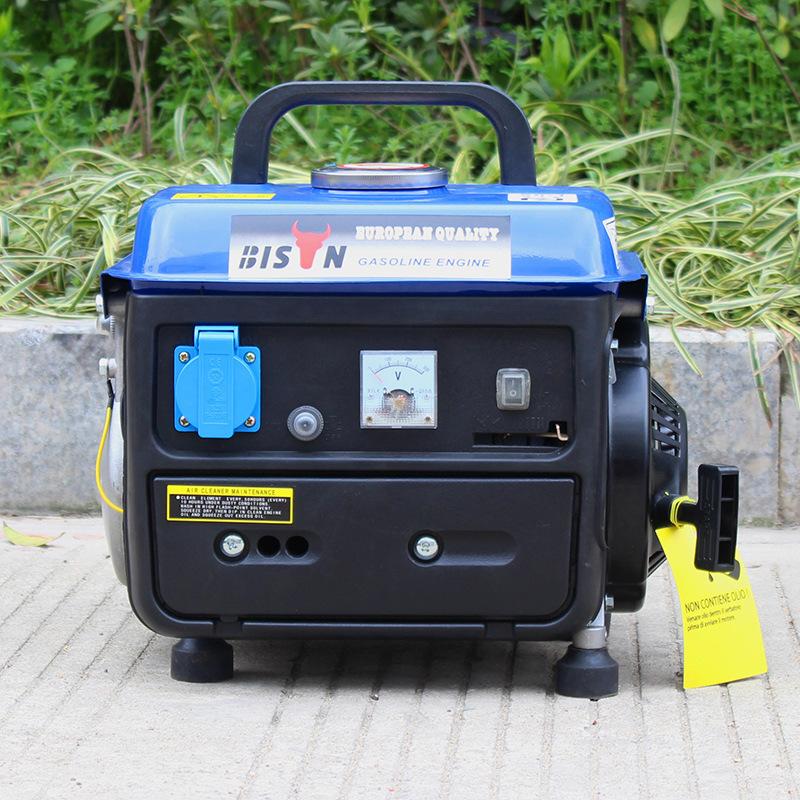 小巧便捷650W迷你汽油發電機 110V單相超輕手動家用小型發電機