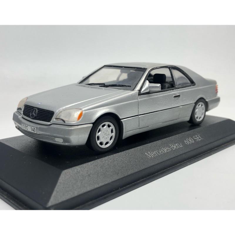 1/43 Minicamps 模型車 賓士 600 sec w140 v12 稀有釋出 非 多美 京商 1/64