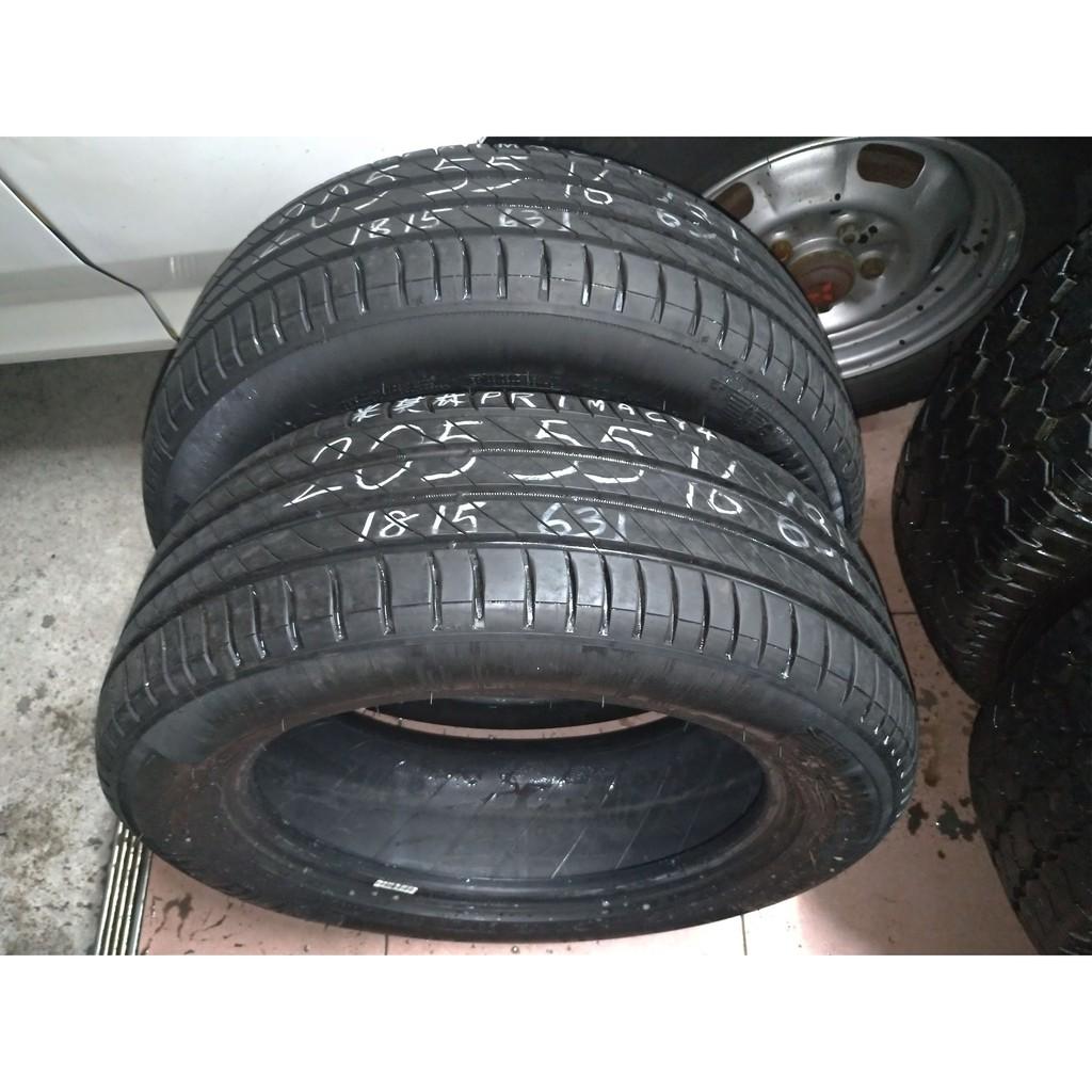 205 55 R 16 18年製造 米其林 Primacy 4 落地胎 二手 中古 輪 胎 一輪2000元