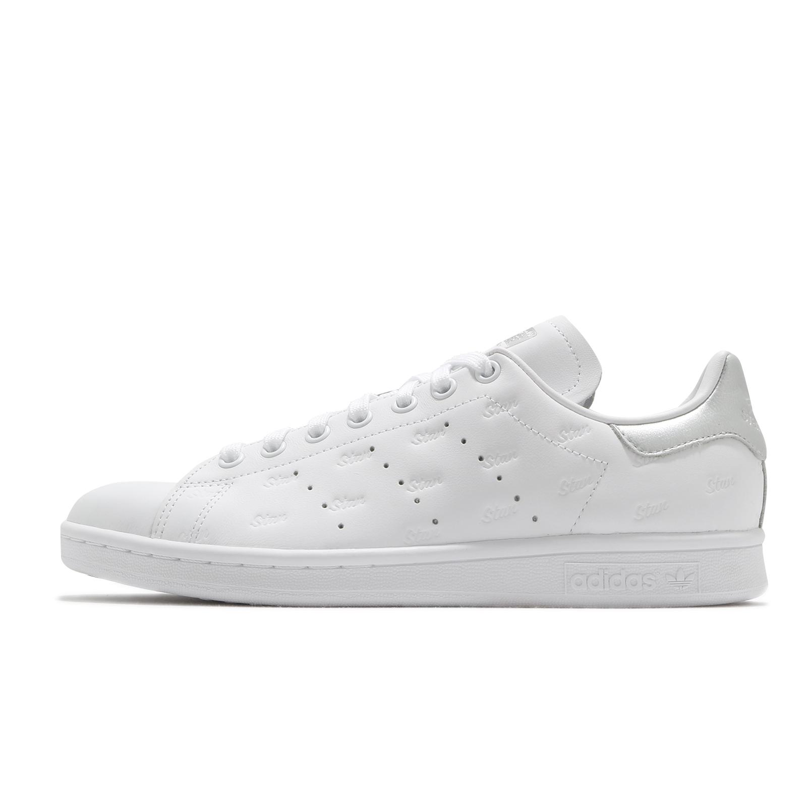 adidas 休閒鞋 Stan Smith W 白 銀 小白鞋 三葉草 愛迪達 女鞋 【ACS】 EF6854