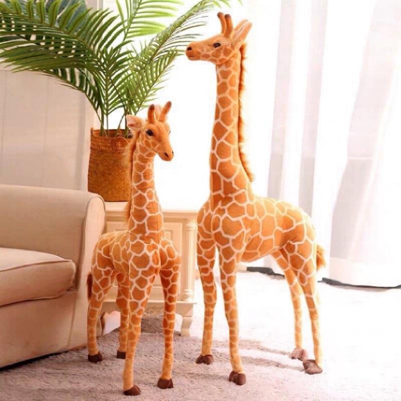 仿真長頸鹿款毛绒玩具 玩偶 大型擺飾 小孩最喜歡的動物 長頸鹿 溫暖動物