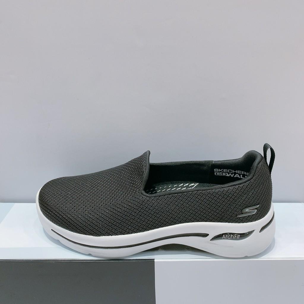 SKECHERS GOWALK ARCH FIT 女生 黑色 舒適 寬楦 透氣 運動 休閒鞋 124401WBKW
