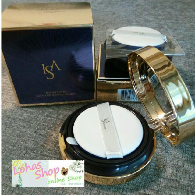 《預購~1殼2蕊》韓國代購LG伊莎諾絲ISA KNOX完美柔焦金屬氣墊粉底氣墊粉餅15g+15g另有水凝光金屬氣墊補充蕊