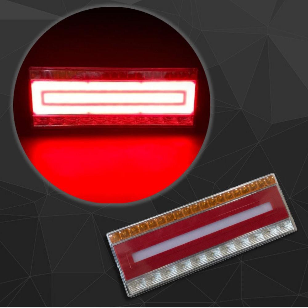 新款設計 24V 尾燈/後燈/後尾燈/煞車燈/倒車燈/方向燈/方型燈/框框燈/方框燈/長方型燈/長條燈 貨車/卡車/拖吊