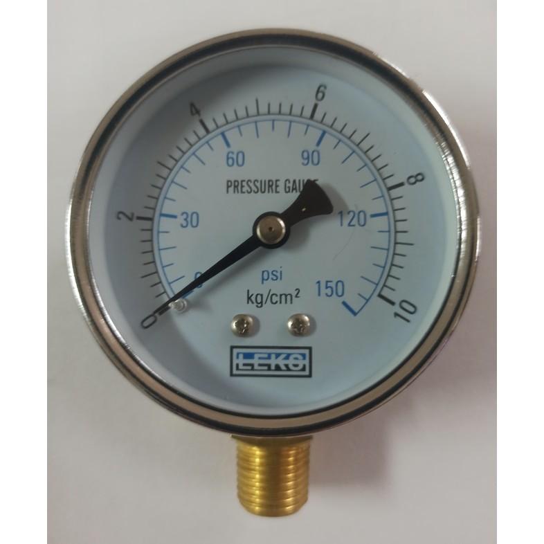 壓力表、10KG壓力錶、試水壓力表、空壓計、減壓閥、直式壓力表2吋2分牙