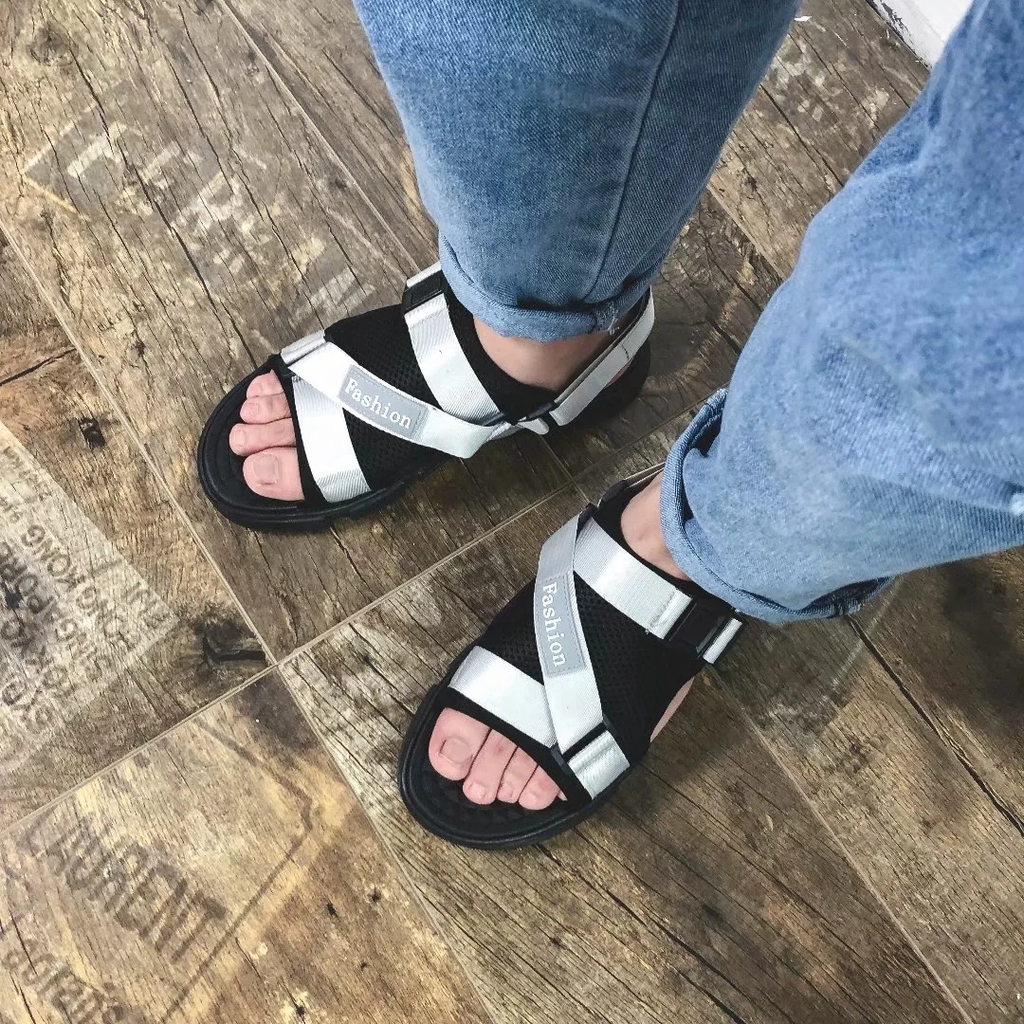涼鞋 防滑 情侶拖鞋 EVA男拖鞋 夏天新款外穿時尚鞋子 沙灘鞋 網紅平底涼拖鞋
