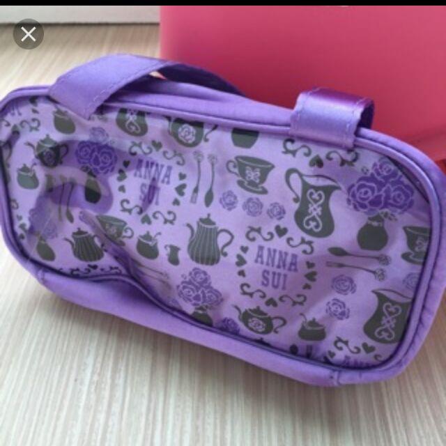 全新專櫃正品ANNA SUI安娜蘇 紫色化妝包