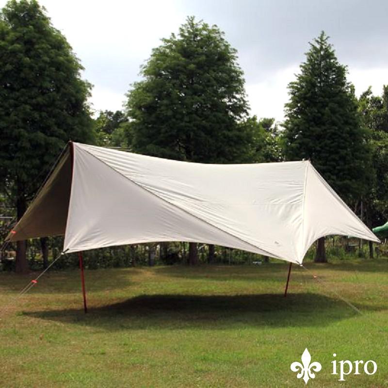 【ipro 岳峰戶外】260象牙白蝶型天幕 帳篷 露營用品
