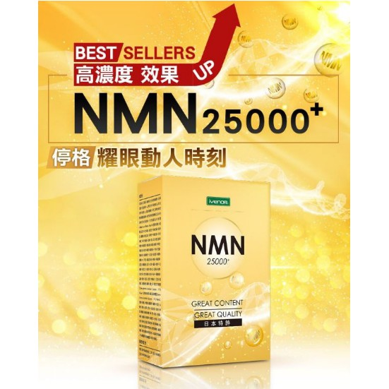 私訊三盒免小七超取運Ivenor NMN碇 25000+ plus高純度 青木瓜 馬卡 靈芝 煙酰胺單核苷酸 β-NMN