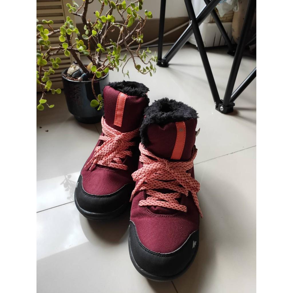 [阿凌凌的賣場]5005-酒紅色迪卡儂-雪鞋