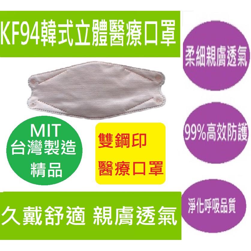 台灣製造淺橘色=哈密瓜色4D不起毛超親膚抗拉耳帶4層安心更立體一包10片裝 MD 雙鋼印 大成 KF94韓式醫療醫用口罩