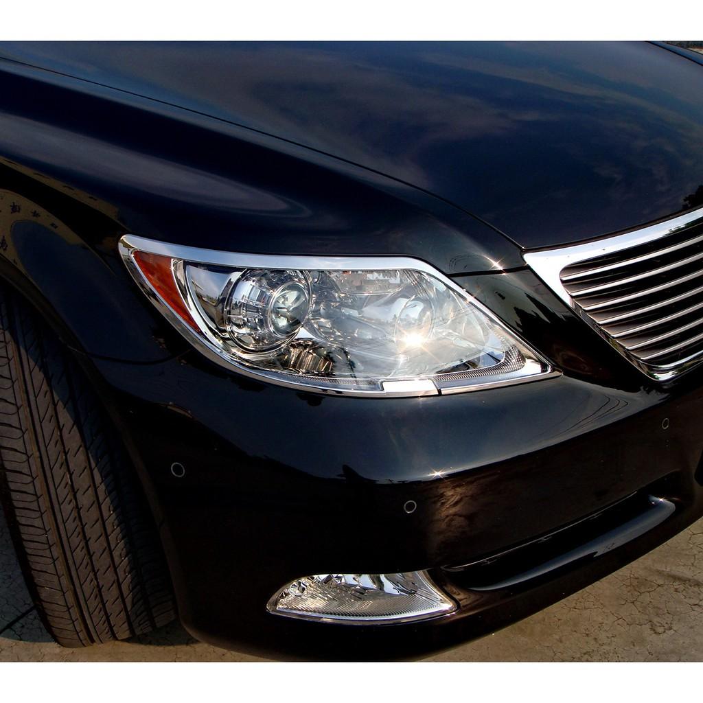 【JR 佳睿精品】Lexus 06-09 LS460 LS600h LS600l 鍍鉻大燈飾框 飾條 改裝 前燈飾框