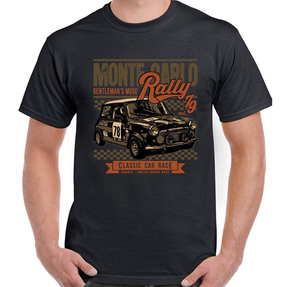 Diy Mini Race Monte Carlo Rally 滑稽車 Cooper Cotton 男士 T 恤 T 恤