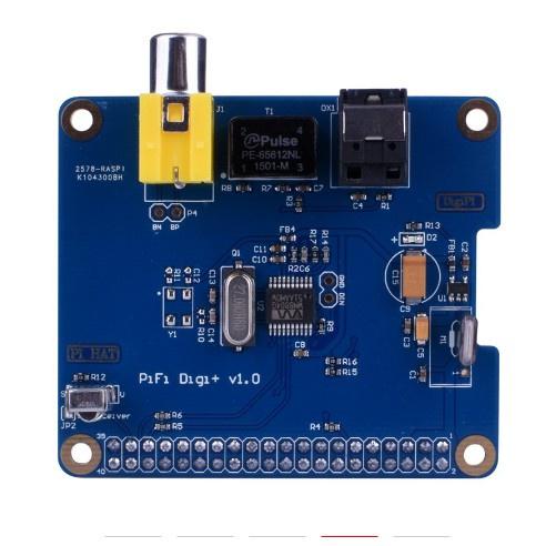 九度百貨 樹莓派raspberrypi 3/2代用HIFI DiGi+數字聲卡I2S SPDIF WM8804G