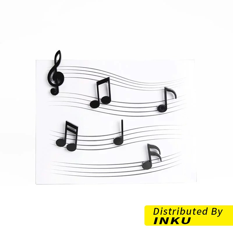 QUALY 音符磁鐵 音符 音樂 造型磁鐵 裝飾磁鐵 文具 i-D [現貨]